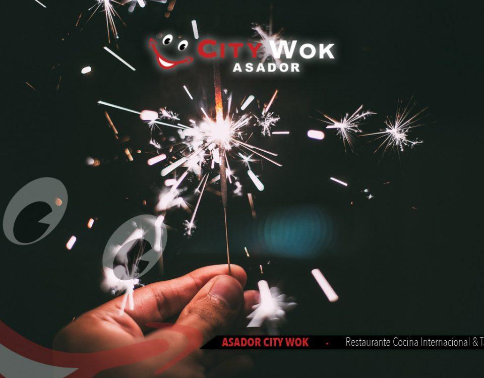 Celebra Nochevieja en Asador City Wok de Alfafar (Valencia)