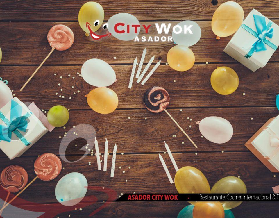 Celebración de cumpleaños y eventos en el Restaurante City Wok Alfafar (Valencia)