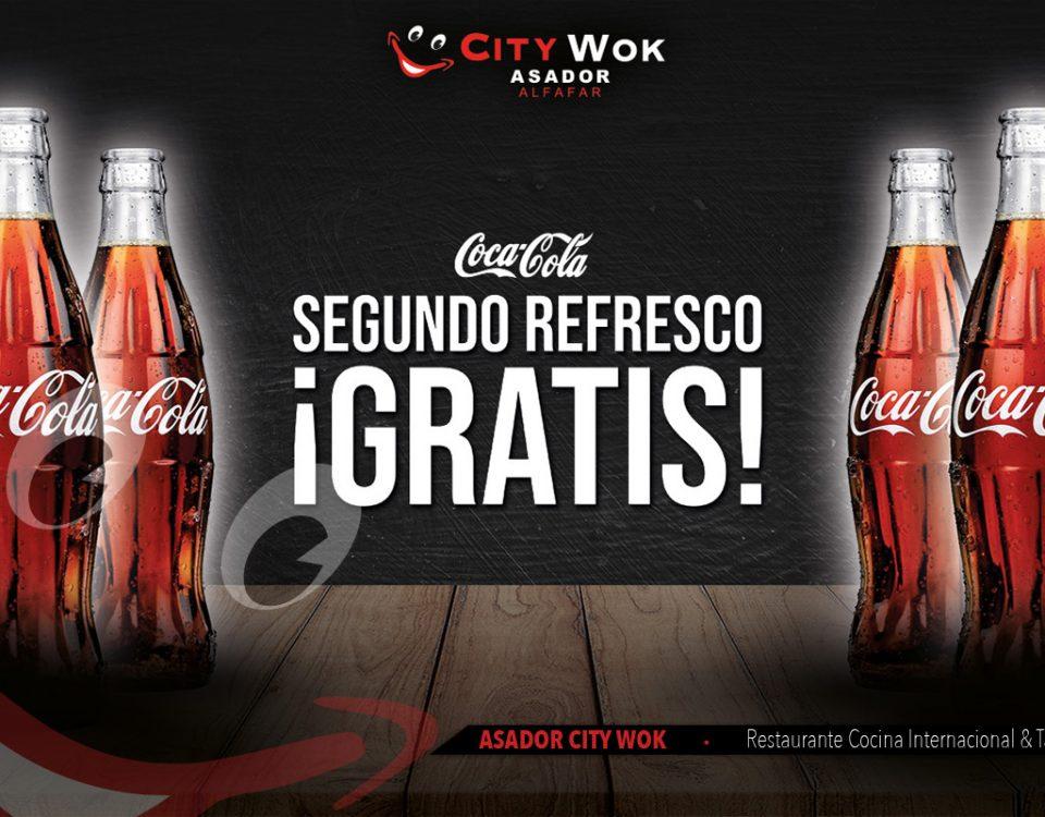 Segundo refresco gratis en el Restaurante City Wok Alfafar de Valencia