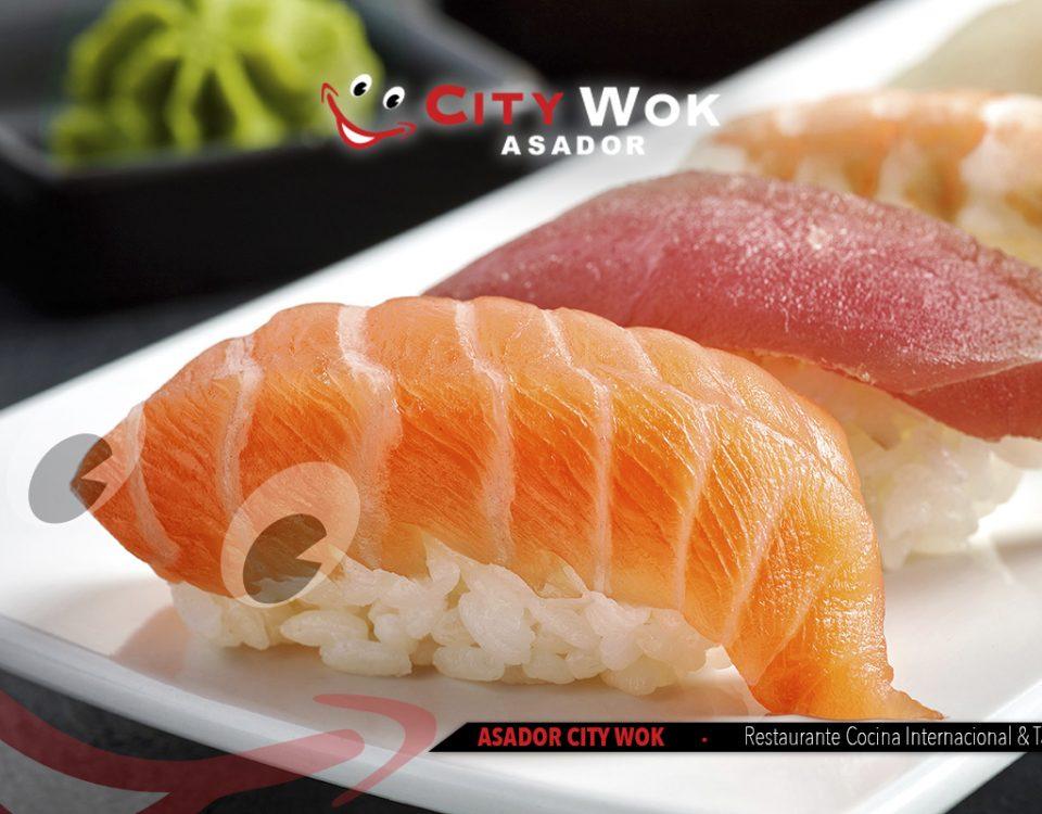 Tipos de sushi en City Wok Alfafar (Valencia)