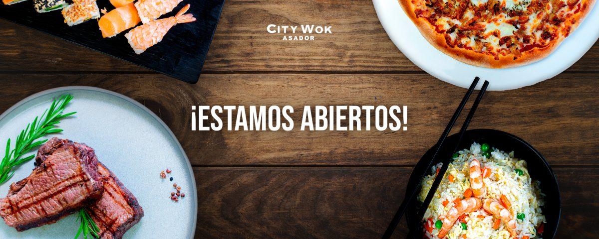 Estamos abiertos City Wok